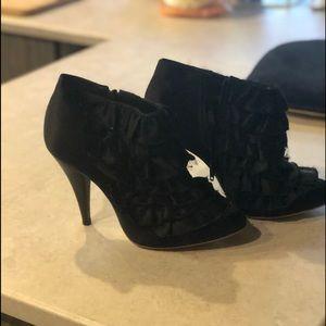 Betsy Johnson ruffle booties